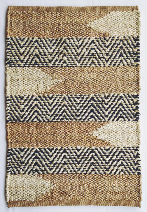 Jute Panja Weave Durrie With Hamming - MH-11205 - 1.6 X 2.3