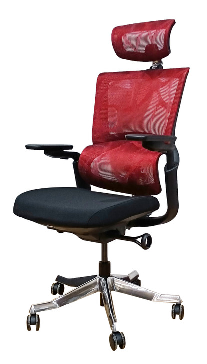 HB Ergo Human Chair HT-8096A in Red