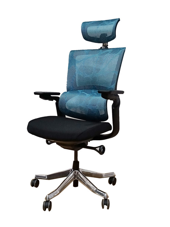 HB Ergo Human Chair HT-8096A in Blue