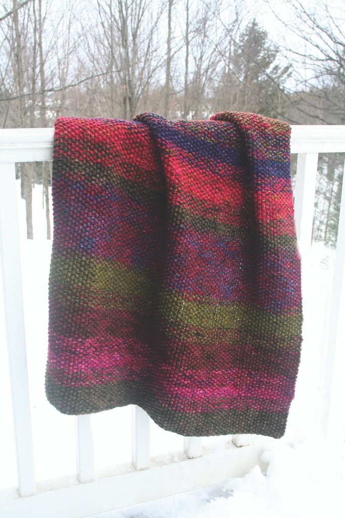 Blanket knitting pattern download using sport weight yarn.