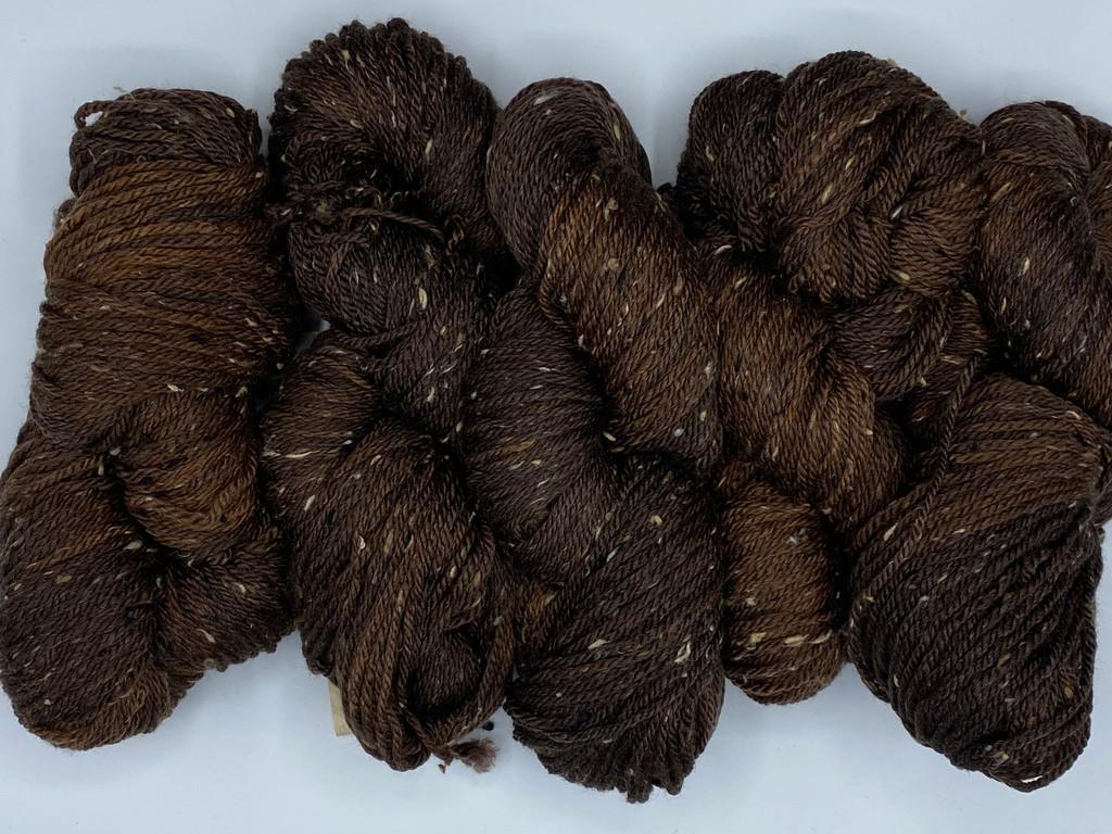 Aran weight yarn, tweed