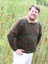 men's sweater knitting pattern, using sport weight yarn