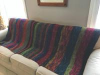 Blanket knitting pattern download using sport weight yarn.