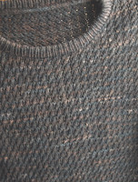 Men's sweater knitting pattern using sport weight yarn.
