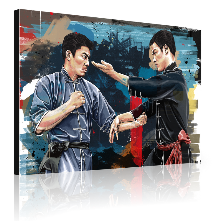 Bruce Lee and Taky Kimura (canvas)