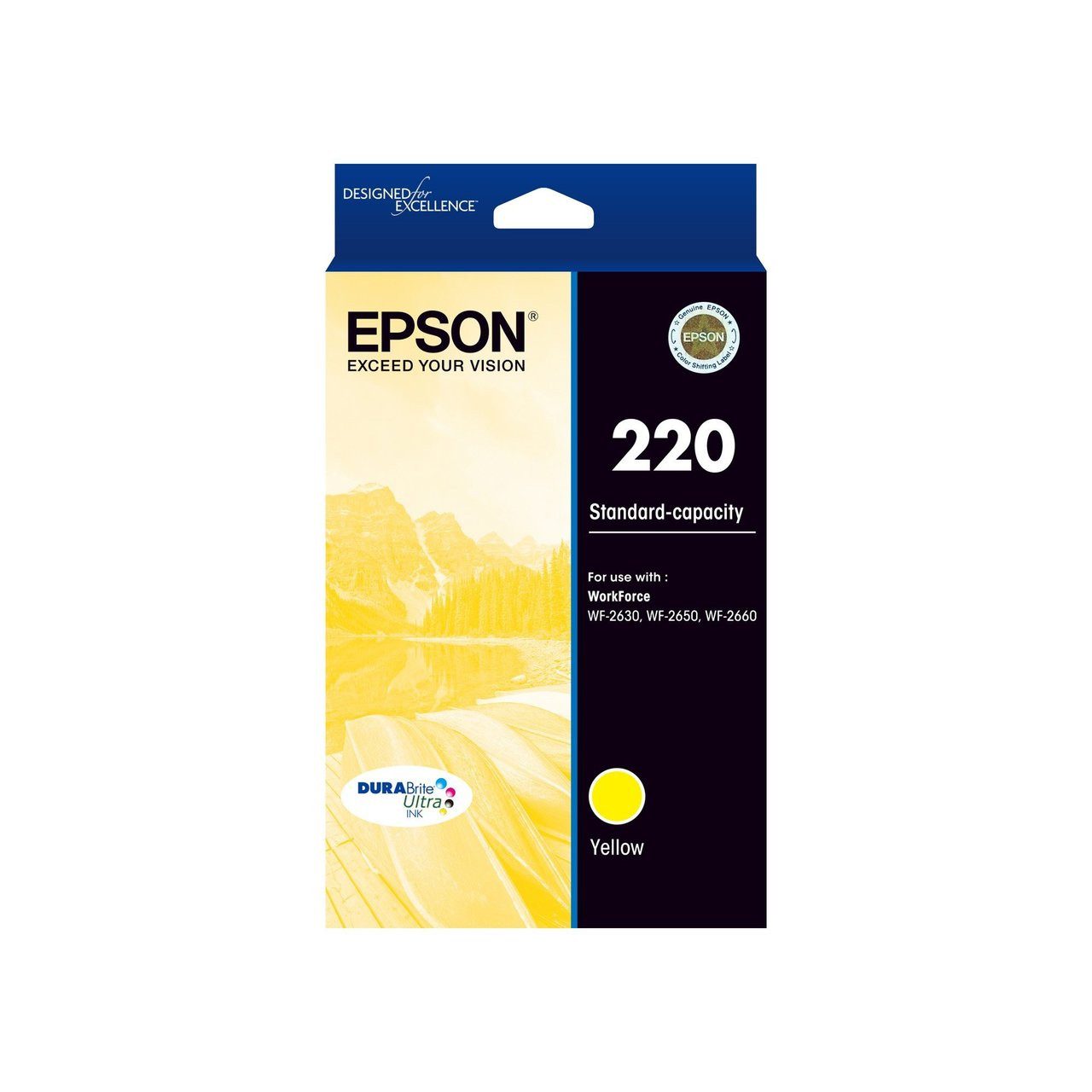 EPSON C13T293492 220 STANDARD CAPACITY INKJET CARTRIDGE DURABRITE ULTRA  YELLOW