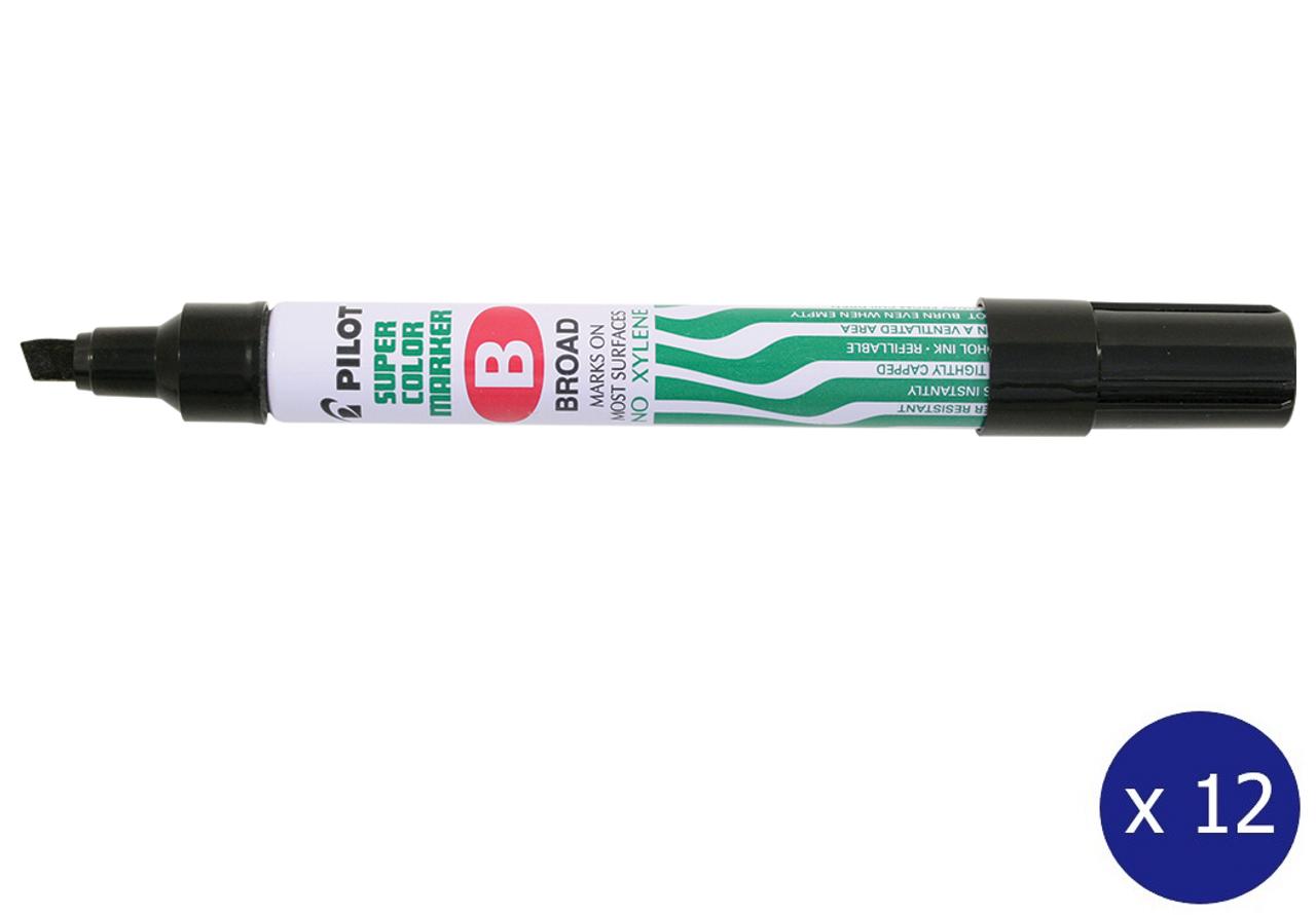 Jumbo Pack of 6 PILOT Twin Marker permanent Marker Black