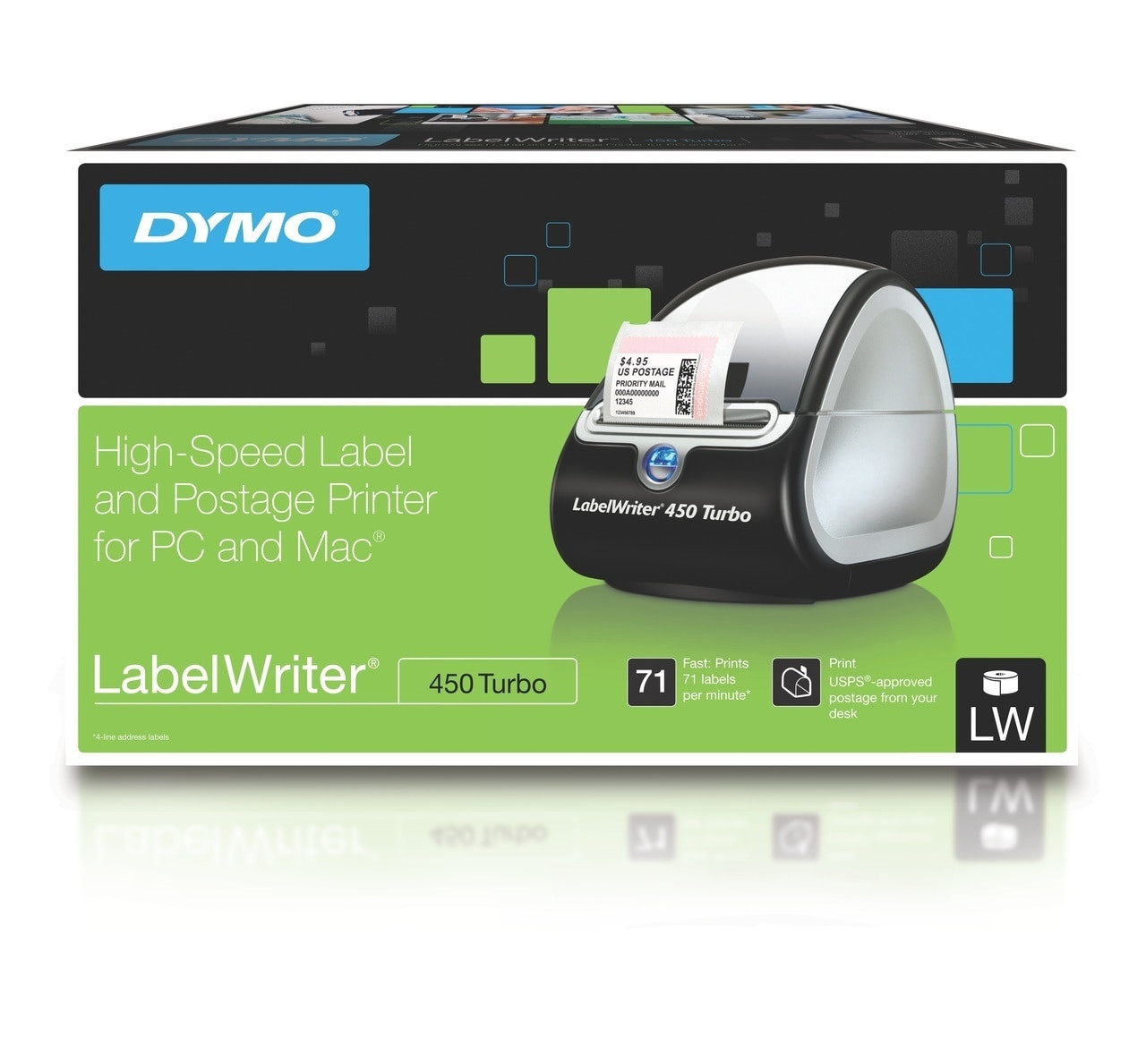 image about Dymo Printable Postage known as DYMO #SD0840370 LABELWRITER 450 450T TURBO Gadget LW450T (Each individual)