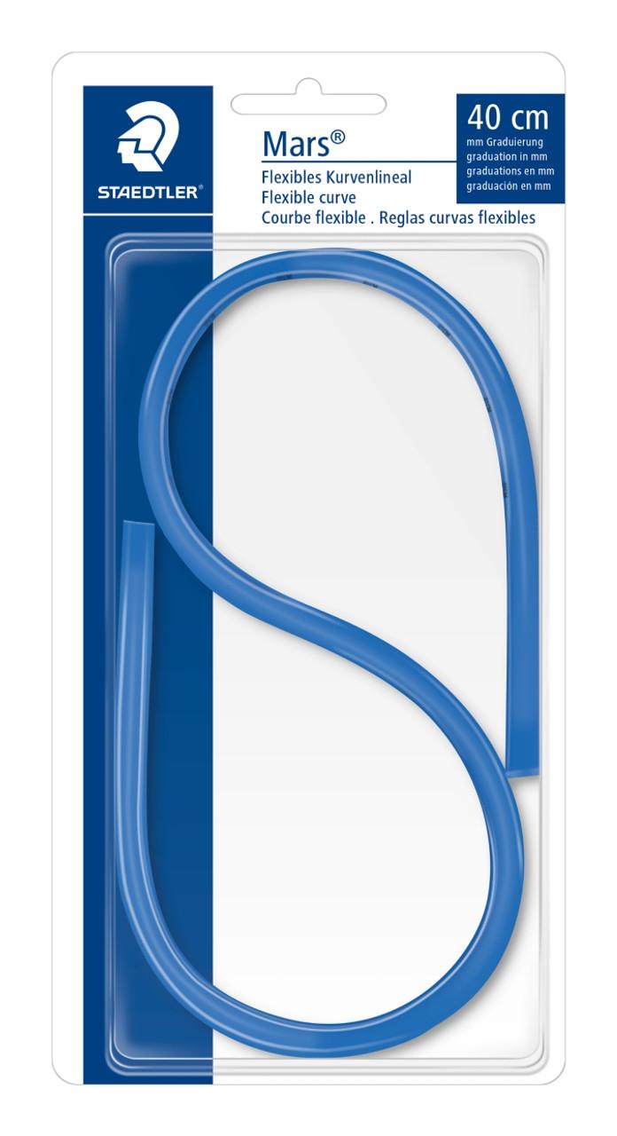 Kurvenlineal 80 cm Blau