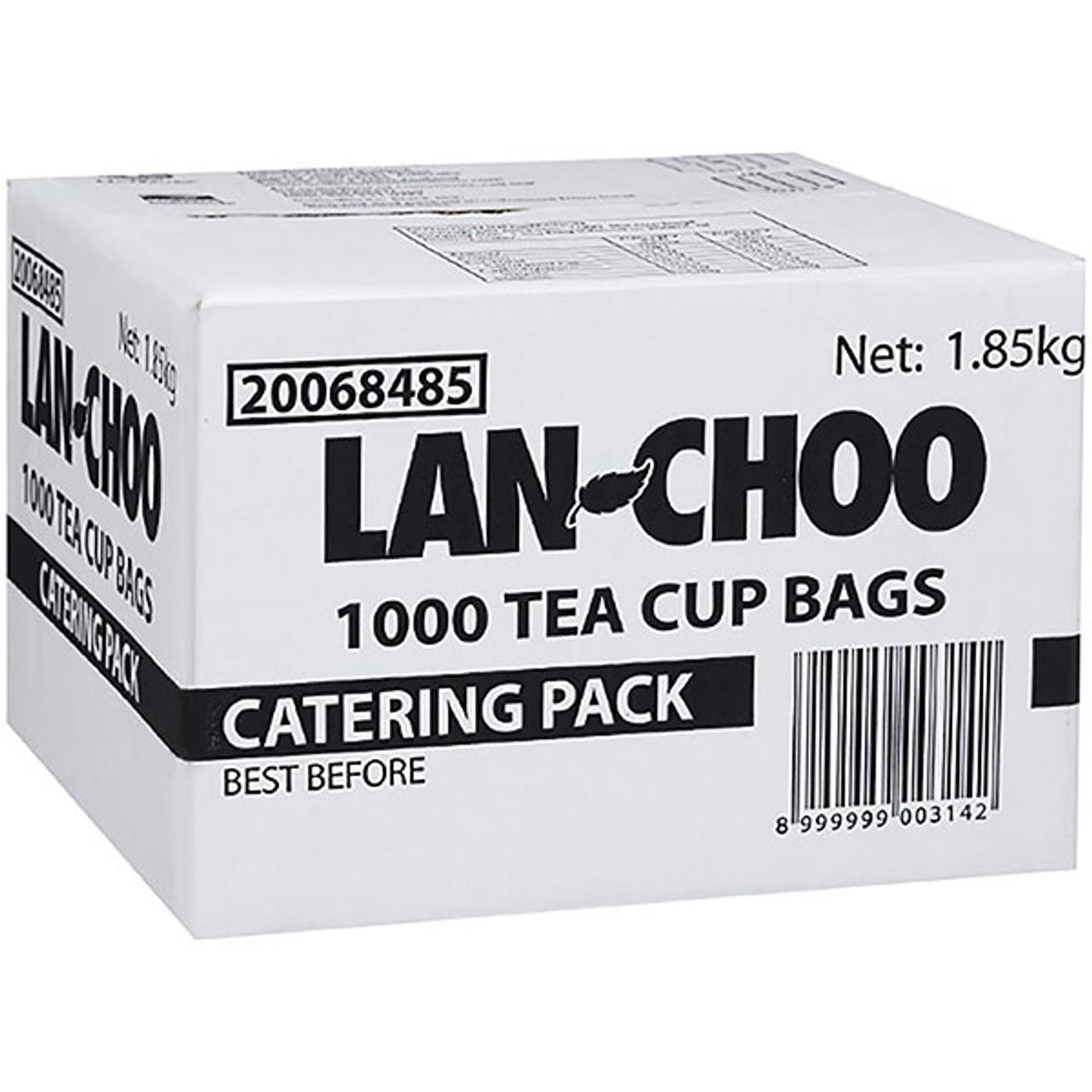 LAN-CHOO 20068485 BLACK TEA CUP BAGS (STRING & TAG) CATERING PACK OF 1000