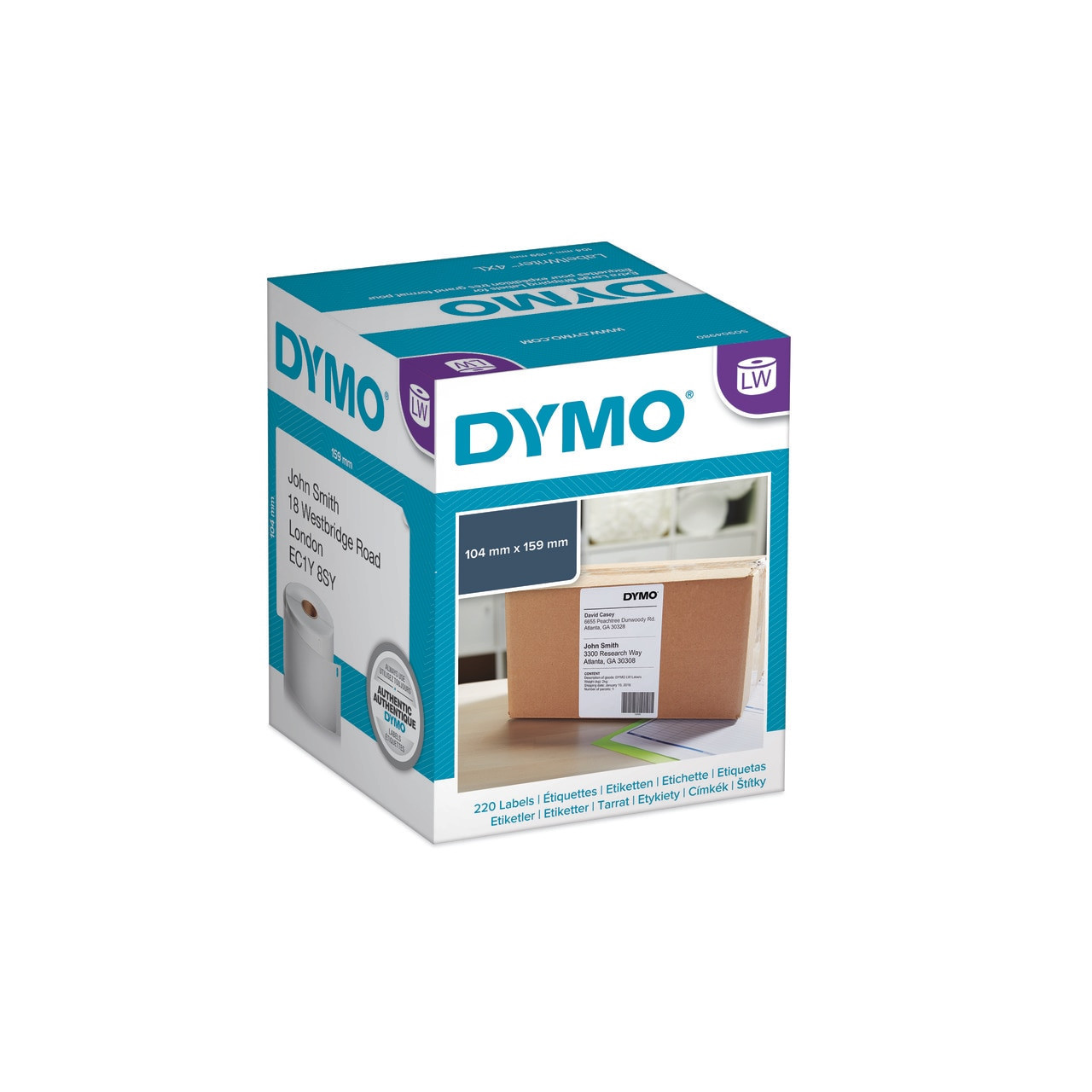 DYMO LABELWRITER LW 4XL WHITE PERMANENT SHIPPING EXTRA LARGE LABELS 104 X  159MM (4