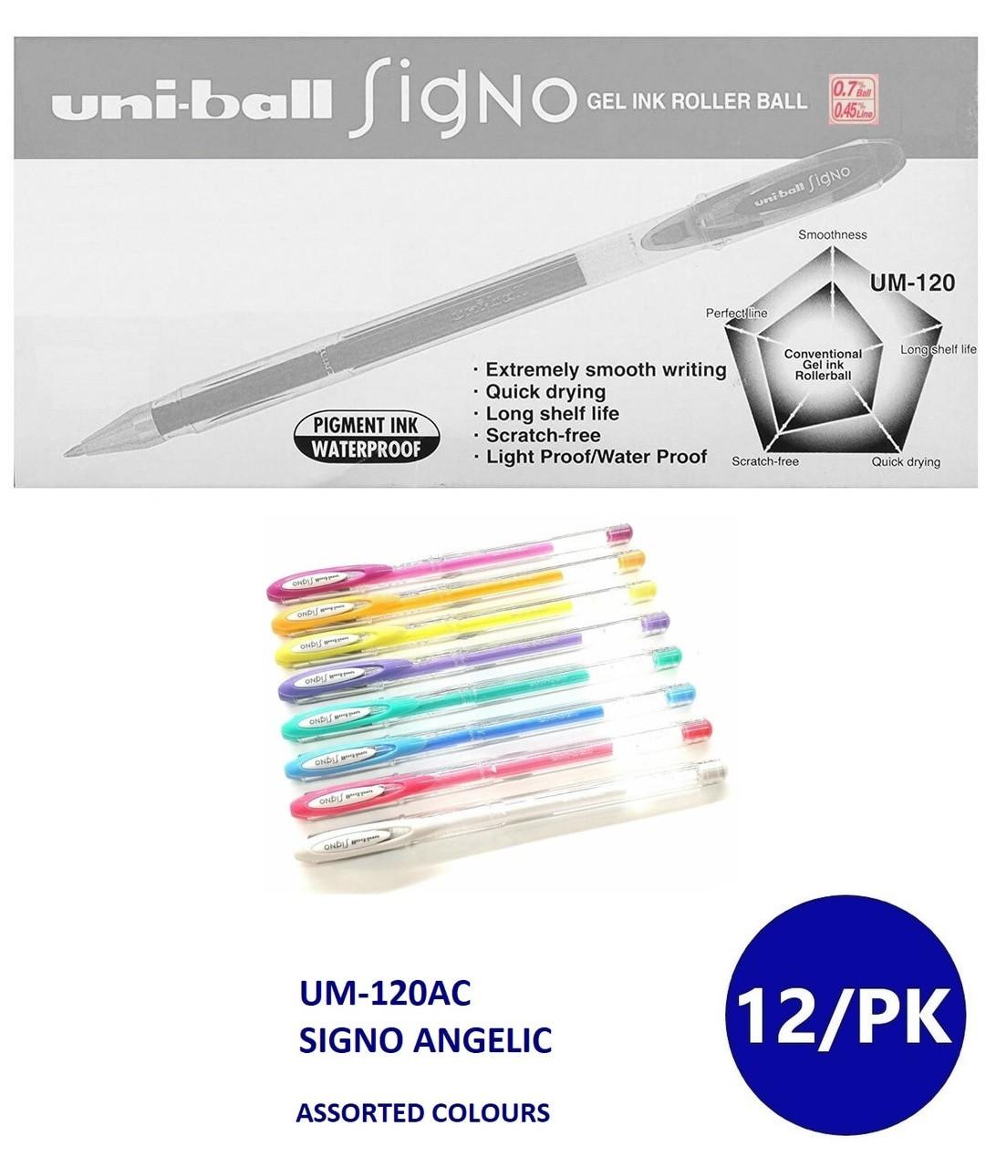 Light Blue UM-120 Mitsubishi Uniball  Signo Gel Ink Rollerball Pen 0.7mm