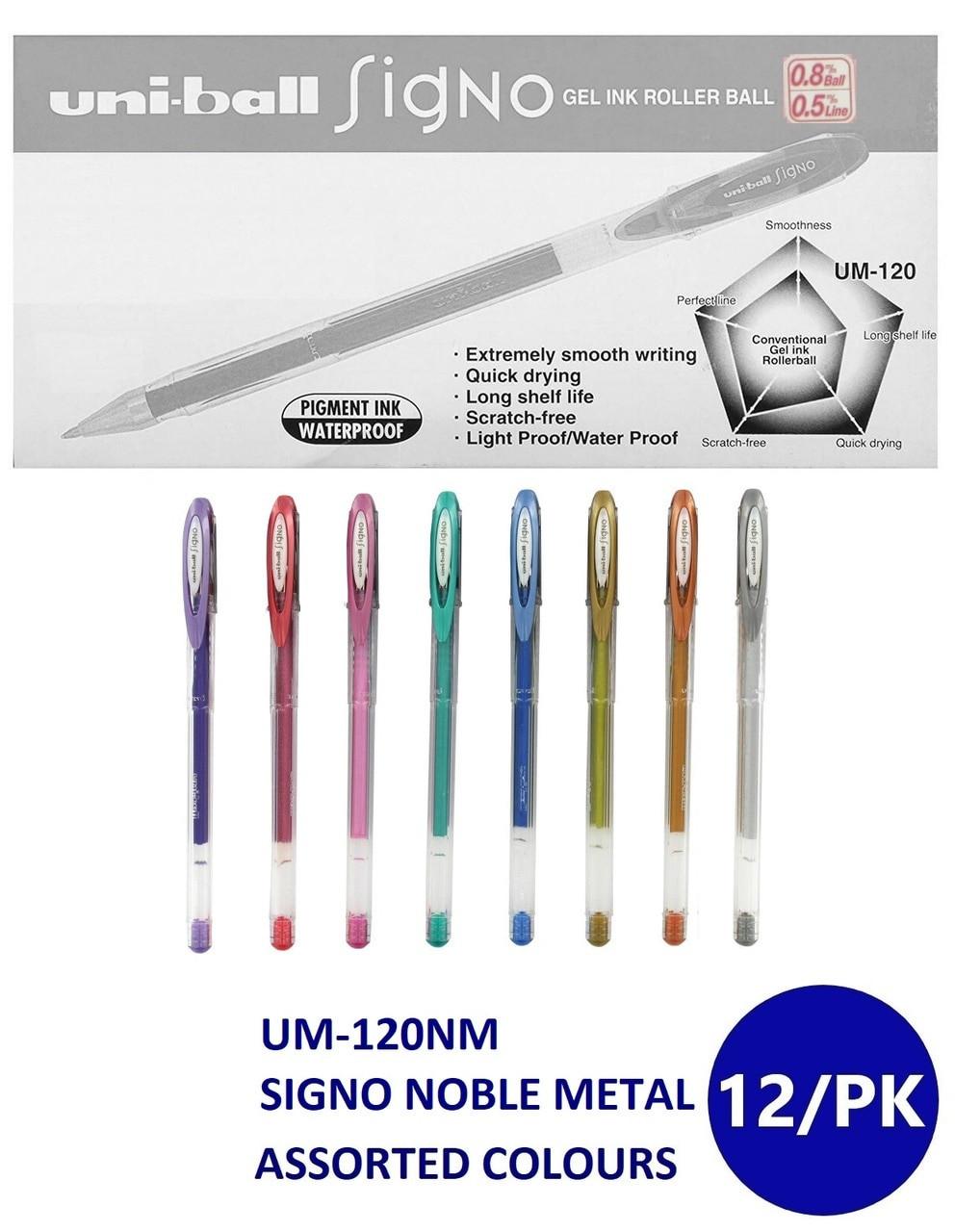 Mitsubishi Uni-ball Signo Noble Metal Metallic Gel Pen 0.8 mm Pink UM-120NM