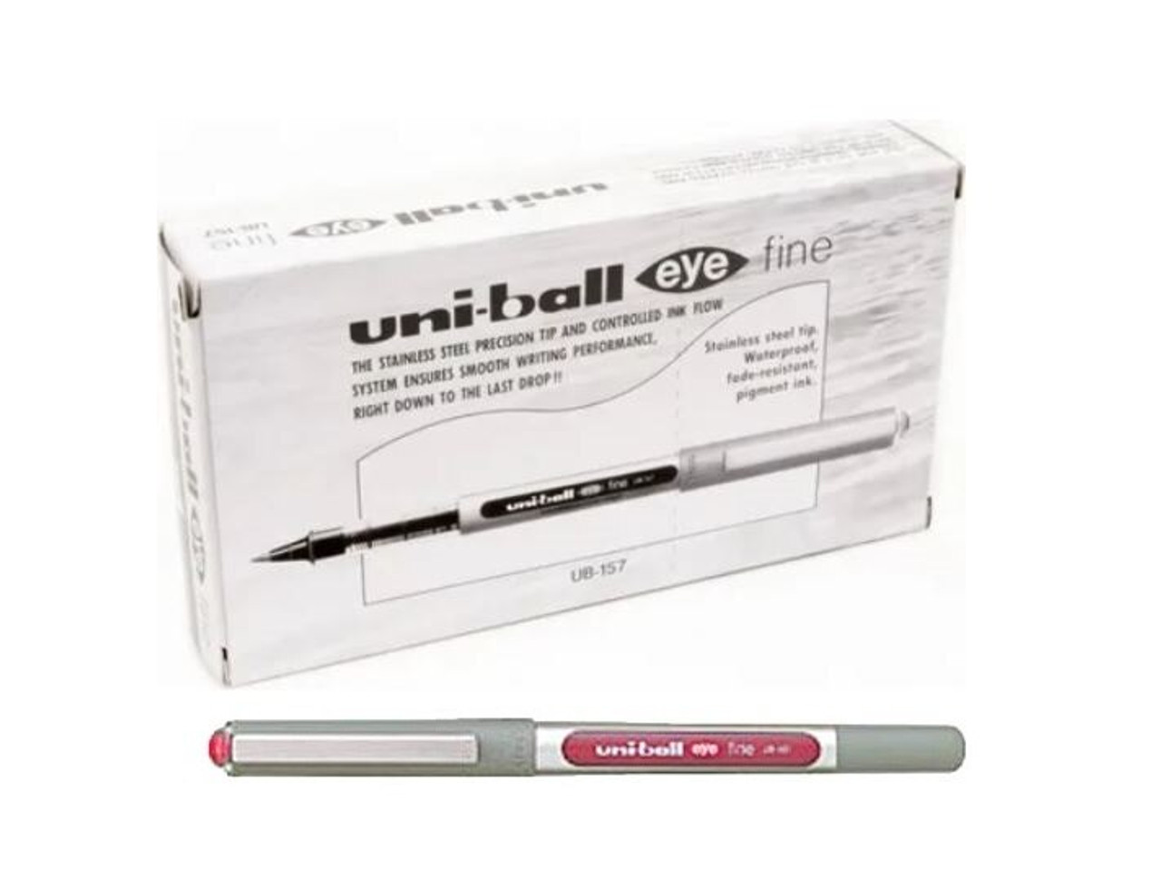 BLACK UNI BALL UB-157 EYE FINE ROLLERBALL PEN 0.7mm UNI-BALL AWARD WINNING