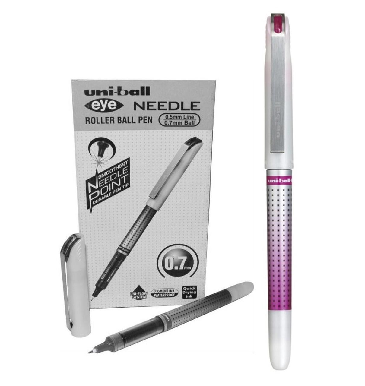 uni-ball Eye Needle UB-187S Rollerball Pens Wine Pack of 12