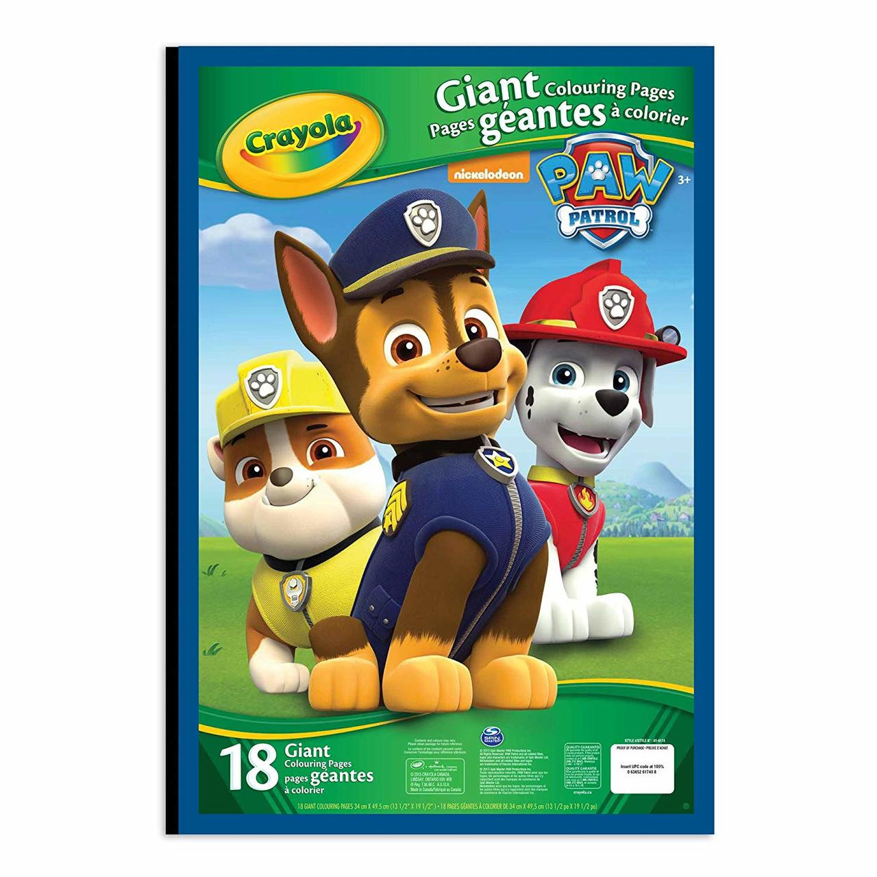 CRAYOLA 04 7020 GIANT COLORING PAGES - PAW PATROL
