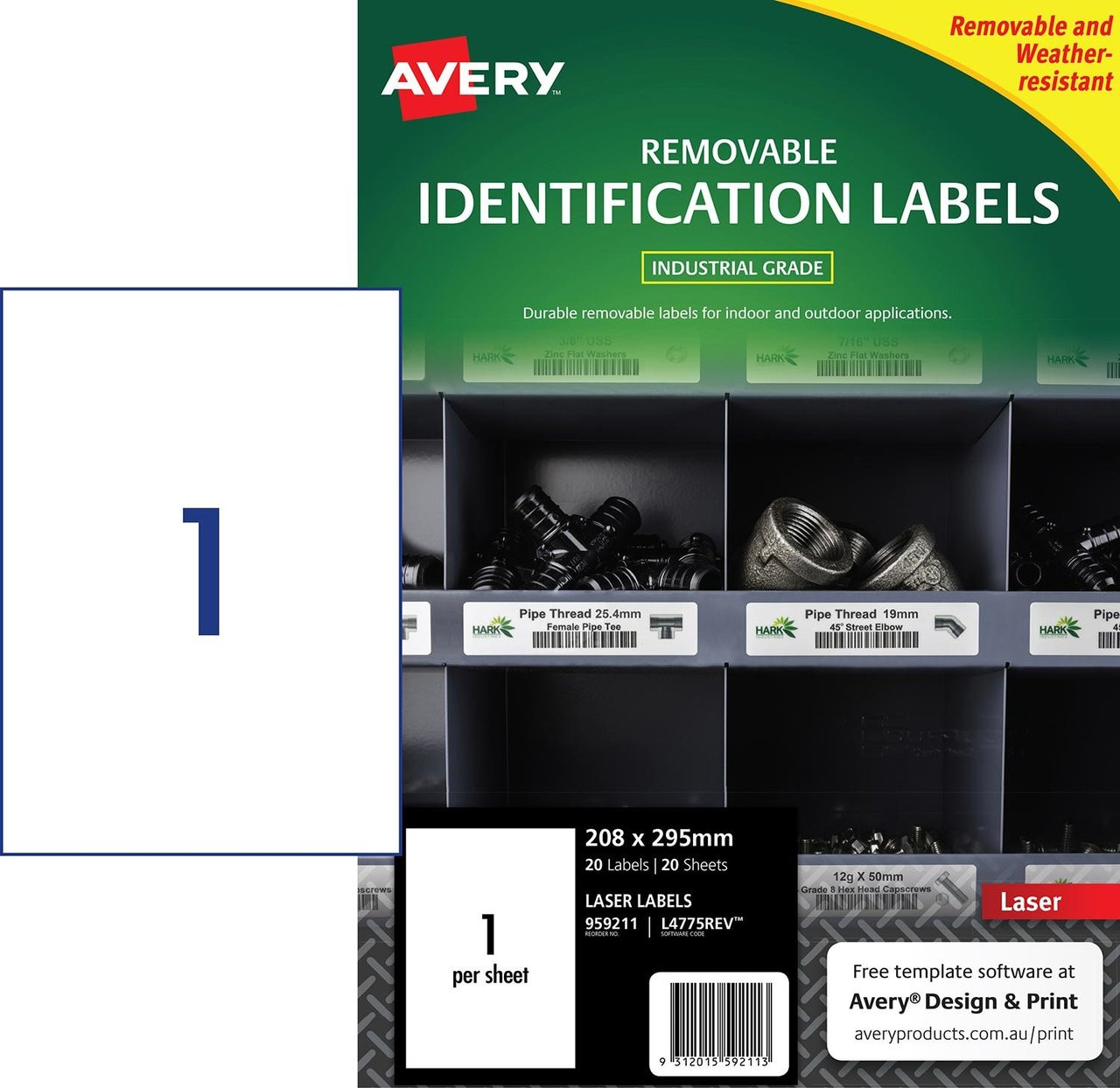 All Purpose Labels Labels Index Dividers Stamps All Purpose Labels 1 Label Per A4 Sheet Avery L4775 20 Extra Strong Adhesive Heavy Duty Weatherproof Labels Kubicolab It