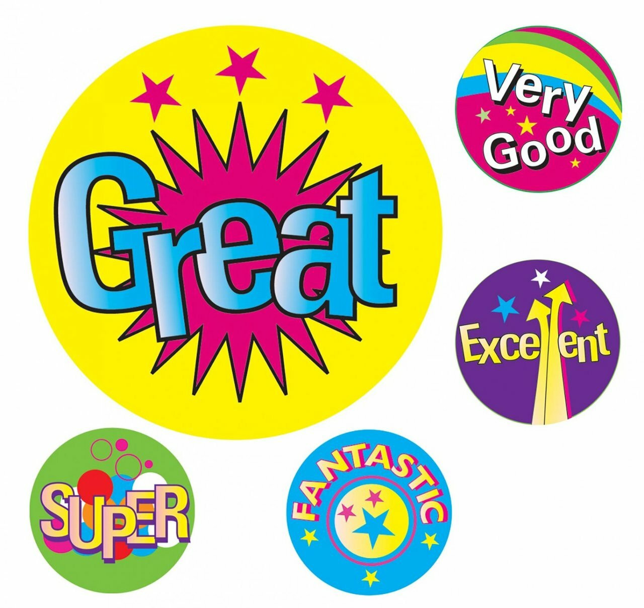 avery  69623 merit stickers multi captions 22mm assorted