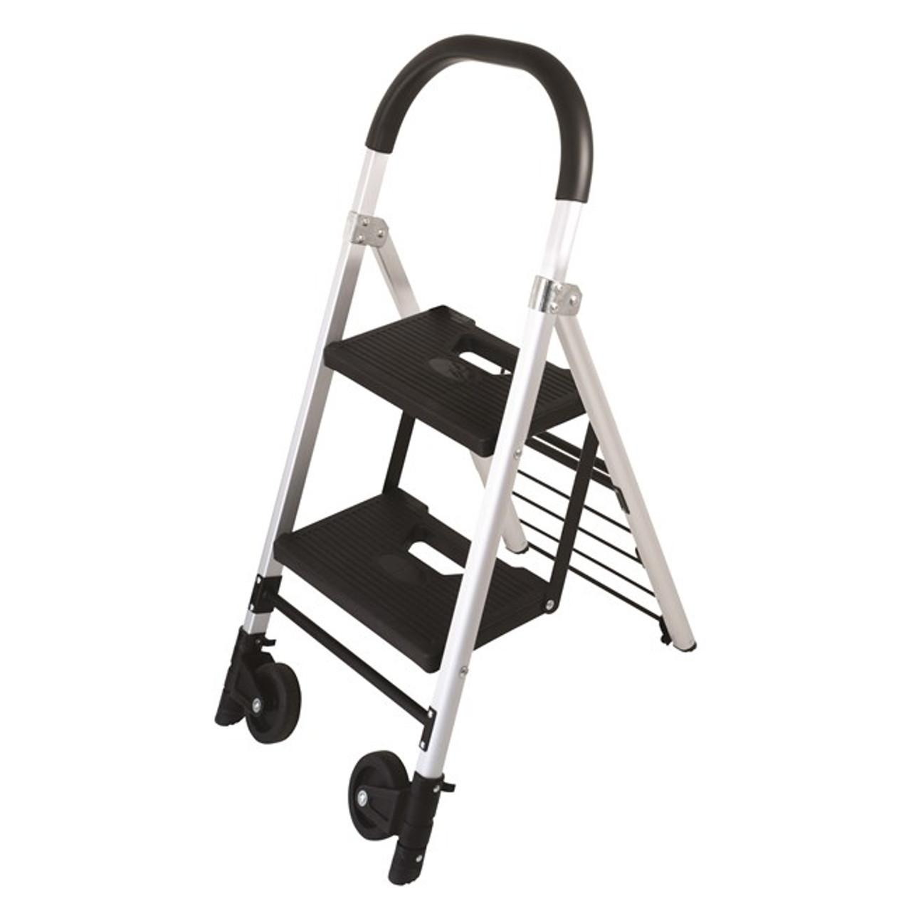Surprising Durus 100852030 Folding 2 Step Ladder Trolley Lamtechconsult Wood Chair Design Ideas Lamtechconsultcom