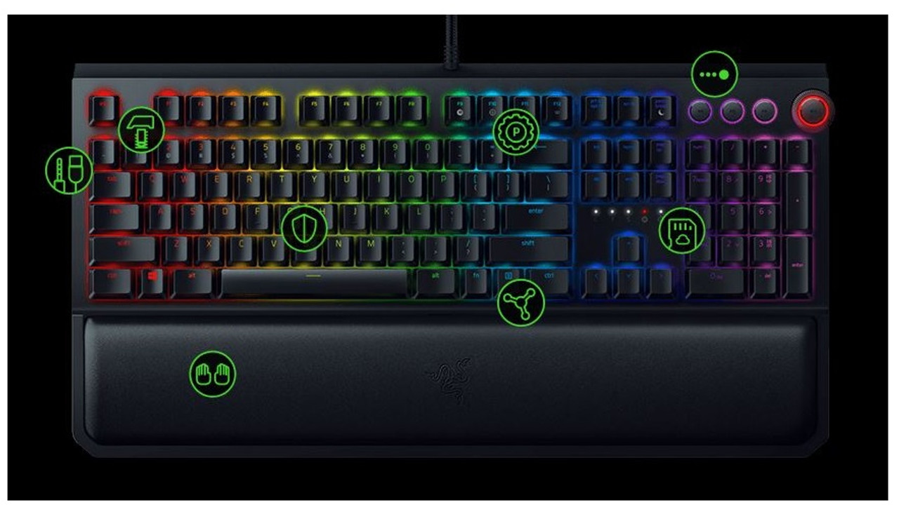 b1b0b2e0ad7 Razer Rz03-02622000 Blackwidow Elite Mechanical Gaming Keyboard - Us Layout  Frml (Yellow Switch