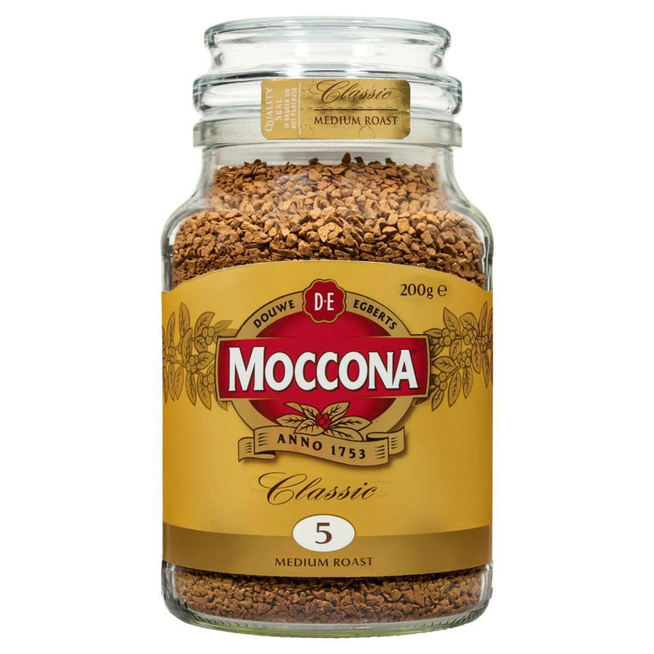 Moccona 33105m Coffee Classic Medium Roast 200g Jar Megax
