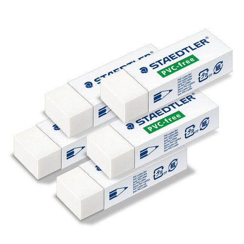 Box of 20  Premium Quality 525 B20 Staedtler Rubber Erasers PVC//Latex Free