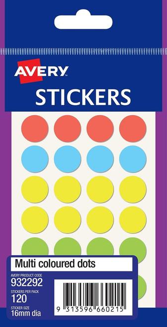 Avery Multi Coloured Multi-Purpose Stickers - Rectangle 18X