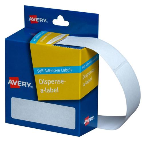 Avery White Dispenser Labels - Rectangle 24X19 mm - 650/pack
