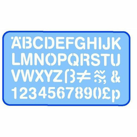 HELIX 0352760 LETTERING STENCIL 20MM