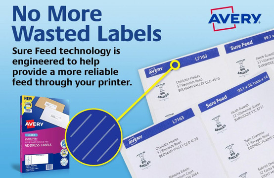 AVERY 952000 QUICK PEEL ADDRESS LABELS WITH SURE FEED - L7160 - 420/PACK -  63 5 X 38 1 MM, LASER, WHITE | 21UP