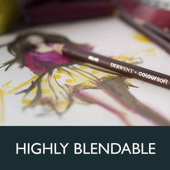 Derwent 2301660 Coloursoft Pencil Wooden Box Of 48