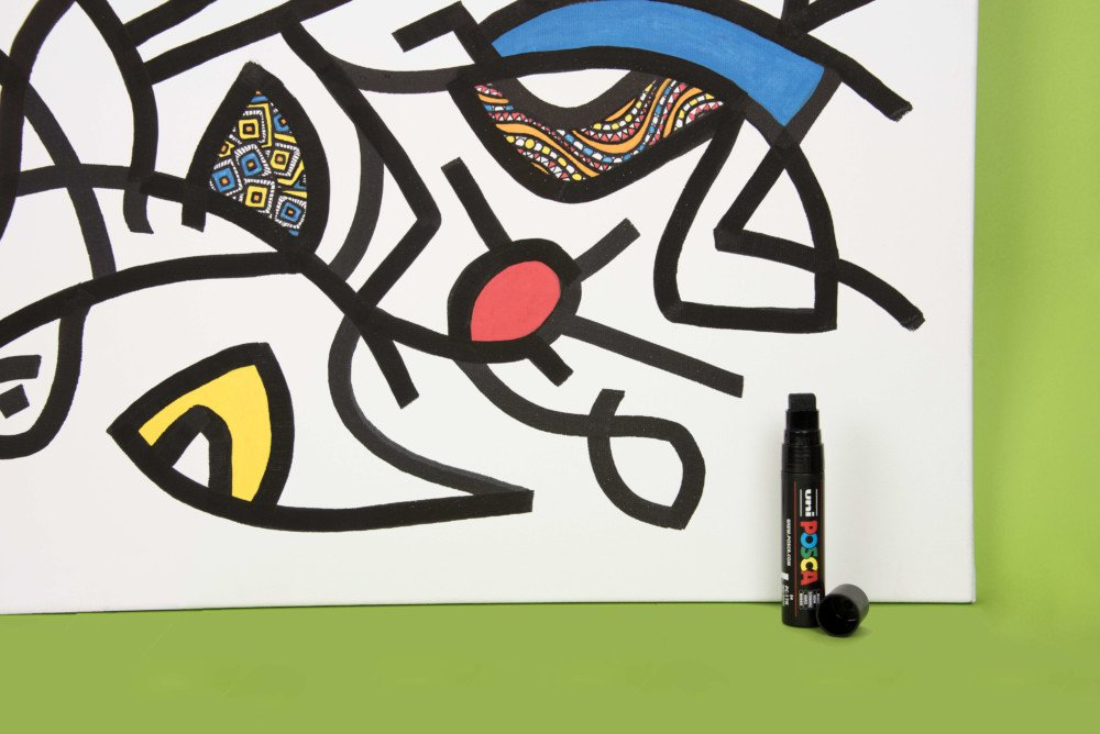 Generally made with linen fibres, or sometimes hemp, canvas is the quintessential artistic medium. It is prized by professional artists and budding painters alike for its noble artistic heritage. Historically associated with classical painting, canvas is now a medium for totally contemporary creation, including street art. POSCA is intrinsically compatible with this medium, creating immediately permanent results.
