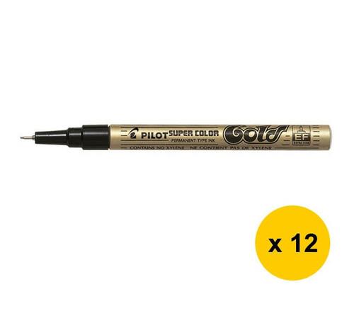 Fine 3.0mm Pilot Super Color Marker Pen Metallic Paint Permanent Ink Markers