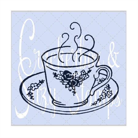 Coffee / Tea Cup with Flowers
