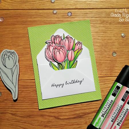 Happy Birthday envelope card by Giada