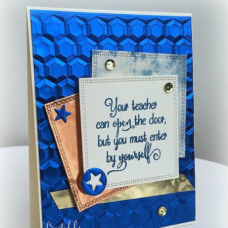 Teacher's card by Martha
