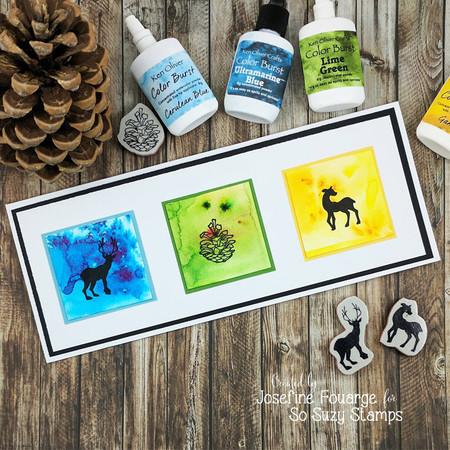 Bright Christmas card by Josefine