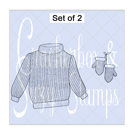 Knit Sweater and Mittens set of 2
