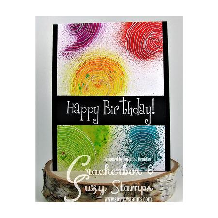 Happy Birthday with Wood Slice
