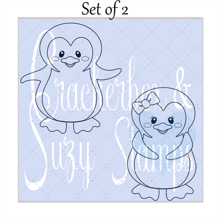 Penguin Boy and Girl Set of 2