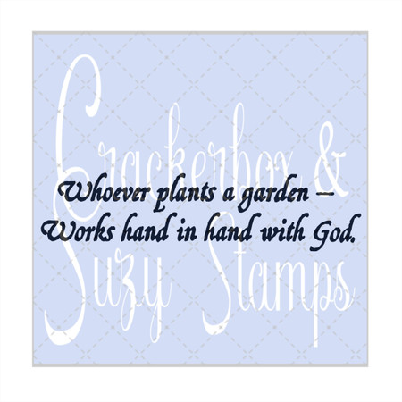 Whoever Plants a Garden