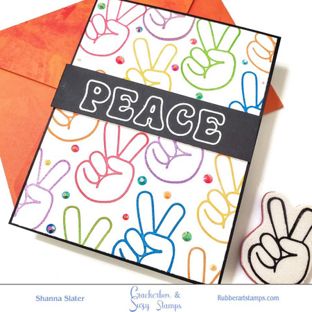 Outline Peace with Hand Peace