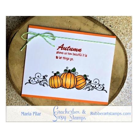 Autumn With Pumpkin Trio