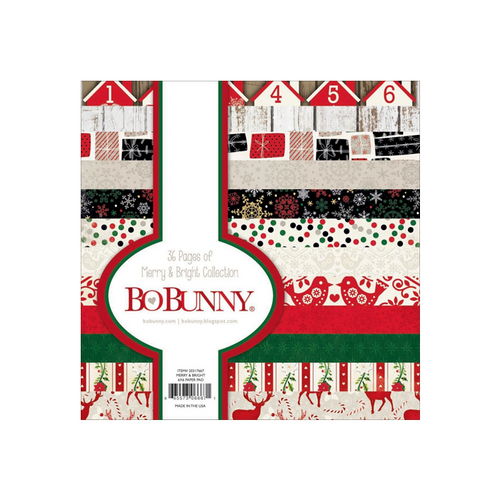 Candy Cane BoBunny 6x6 Paper Pack