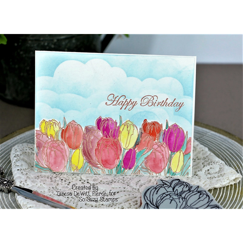 Teresa's Birthday Tulip card