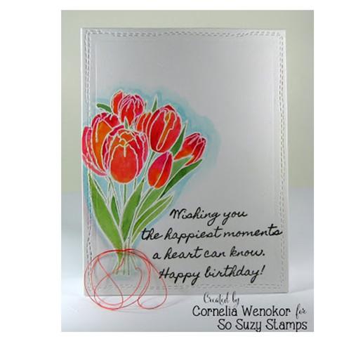 Birthday Tulips by Cornelia