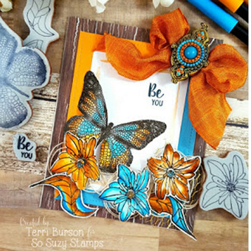 Blooms and Butterflies by Terri