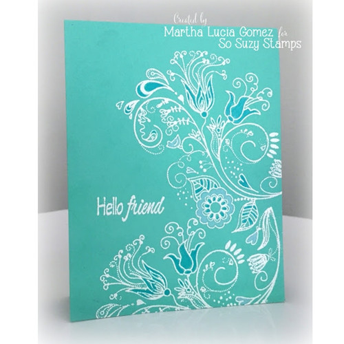 Flower Flurish Hello Friend by Martha