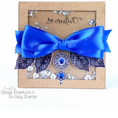Be Creative Shaker card by Olesya