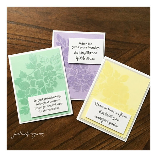 Justine's 3 cards